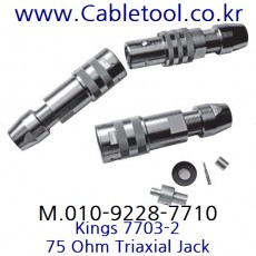 KINGS 7703-2, RG59 Triaxial Cable Jack